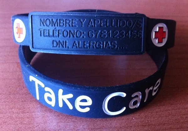 Pulsera identificativa TAKE CARE